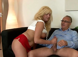 Very attractive blonde milf Conchita gets busy with her hubby