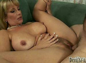 Busty blonde cougar's trimmed pussy aches to be roughly fucked