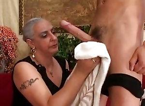 Short hair mature porno